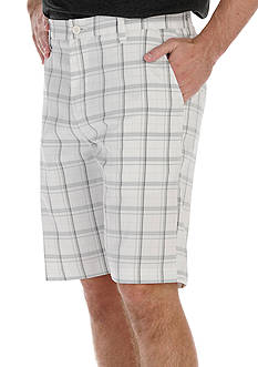 Lee Big & Tall Plaid Traveler Flat-Front Shorts