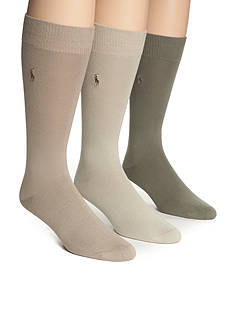 Polo Ralph Lauren Big & Tall 3-Pack Super Soft Socks