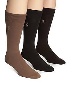 Polo Ralph Lauren Big & Tall 3-Pack Super Soft Socks