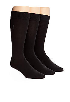 Polo Ralph Lauren 3-Pack Super Soft Poly Socks