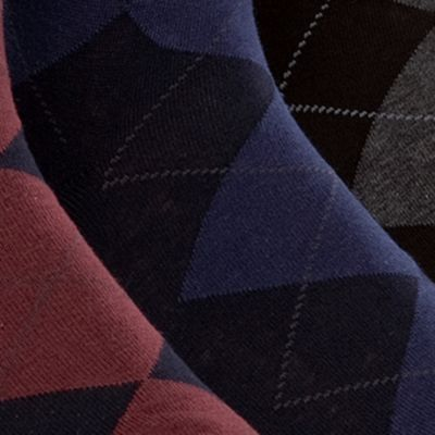 Mens Socks Sale: Assorted Polo Ralph Lauren Argyle Dress Socks - 3 Pack