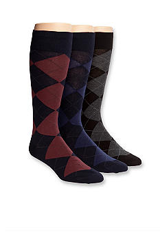 Polo Ralph Lauren Argyle Dress Socks - 3-Pack