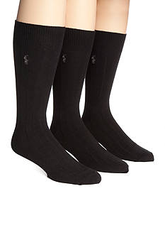 Polo Ralph Lauren Big & Tall 3-Pack Combed Cotton Socks