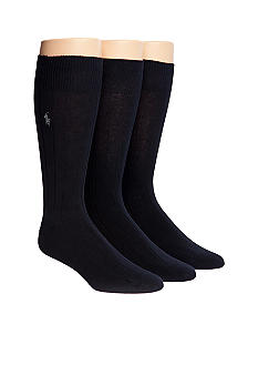 Polo Ralph Lauren 3-Pack Combed Cotton Dress Socks