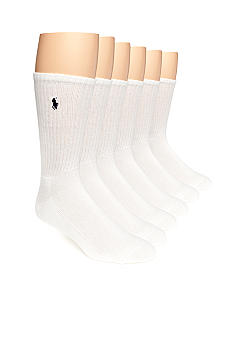 Polo Ralph Lauren 6-Pack Rib Crew Socks