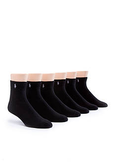 Polo Ralph Lauren 6-Pack Rib Quarter Length Socks