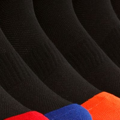 Young Men: Polo Ralph Lauren Activewear: Black / Assorted Polo Ralph Lauren 6-Pack Technical Sport Quarter Crew Socks
