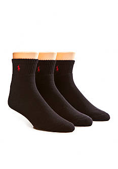 Polo Ralph Lauren Big & Tall 3-Pack Athletic Crew Socks