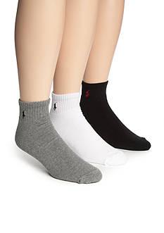 Polo Ralph Lauren Big & Tall 3-Pack Athletic Crew Socks