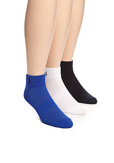 Polo Ralph Lauren Technical Sport Ankle Socks - 3 Pack