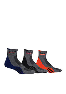 Polo Racing Stripe Sole Contrast Quarter Socks - 3 Pack