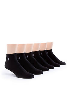 Polo Ralph Lauren 6-Pack Rib No Show Socks