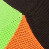 Mens Athletic Socks: Orange/Black Polo Ralph Lauren Athletic Blocked Mesh Low-Cut Socks - Single Pair