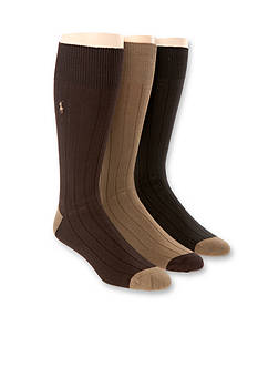 Polo Ralph Lauren Ribbed Crew Socks - 3 Pack
