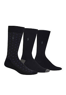 Polo Ralph Lauren Supersoft Diamond Dot Neat Socks - 3 Pack
