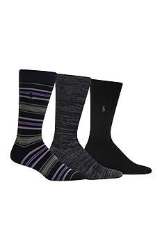 Polo Ralph Lauren Stripe Trouser Socks - 3 Pack