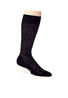 Polo Ralph Lauren Paisley Pima Cotton Socks - Single Pair