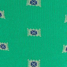 Mens Casual Socks: Kelly Polo Ralph Lauren Birdseye Square Foulard Crew Socks - Single Pair