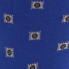 Mens Casual Socks: Royal Polo Ralph Lauren Birdseye Square Foulard Crew Socks - Single Pair