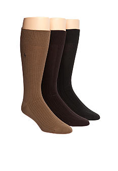 Polo Ralph Lauren 3-Pack Assorted Textured Socks