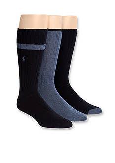 Polo Ralph Lauren 3-Pack Soft Touch Assorted Socks