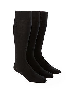Polo Ralph Lauren 3-Pack Over the Calf Ribbed Socks