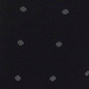 Guys Dress Socks: Black/Gray Polo Ralph Lauren Polo Player Dots Trouser Socks - 2 Pack