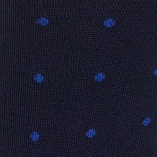 Guys Dress Socks: Navy/Royal Polo Ralph Lauren Polo Player Dots Trouser Socks - 2 Pack