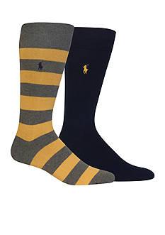 Polo Ralph Lauren Rugby Crew Socks - 2 Pack