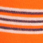 Designer Socks for Men: Orange Polo Ralph Lauren Multi-Stripe and Solid Crew Socks - 2 Pack