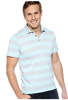 DKNY Jeans Two Tone Pique Stripe Polo