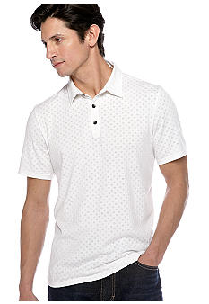DKNY Jeans Geo Pattern Burnout Polo