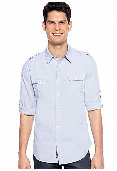 DKNY Jeans Roll Tab Stripe Shirt