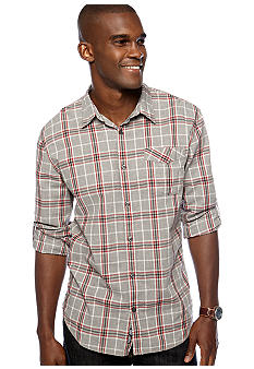 DKNY Jeans Roll Tab Plaid Shirt