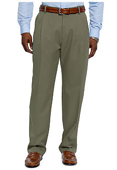 Haggar Cool 18 Microfiber Pleated Pants