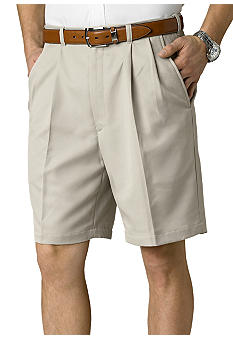 Haggar® Cool 18 Pleated Microfiber Shorts