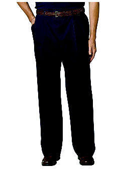 Haggar Big & Tall Work-To-Weekend Pleated Pant