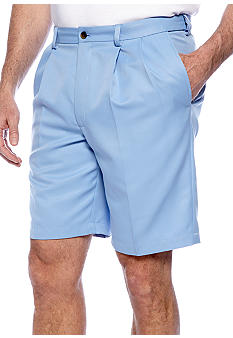 Haggar Big & Tall Cool 18 Pleated Solid Short