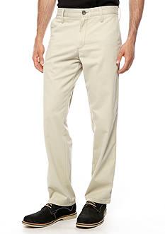 Haggar® Straight Fit Life Khaki Flat Front Pants