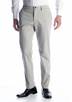 Haggar Performance Straight-Fit Flat-Front Wrinkle-Free Pants
