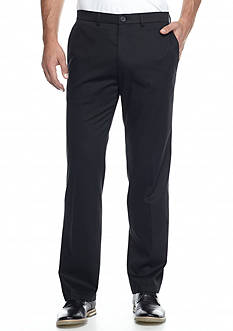 Haggar Premium Stretch Straight-Fit Flat-Front Pants