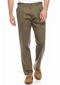 Haggar Big & Tall Premium Non-Iron Classic-Fit Pleated Pants