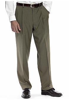 Haggar Smart Fiber Repreve Pleated Dress Pants