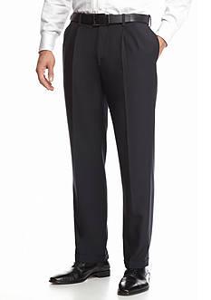Haggar eCLo™ Stria Classic Fit, Pleated, Hidden Expandable Waist Dress Pants