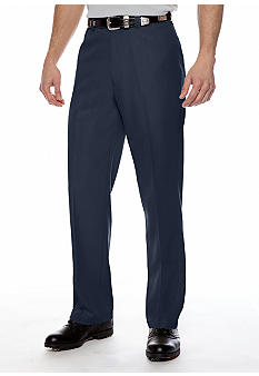 Haggar Smart Fiber Straight Fit Flat Front Dress Pants