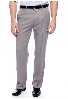 Haggar Smart Fiber Straight Fit Flat Front Texture Dress Pants