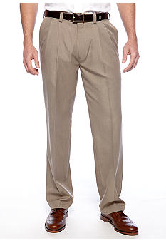 Haggar Smart Fiber Straight Fit Pleated Dress Pants