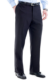 Haggar Big & Tall eCLo™ Stria Classic-Fit Flat-Front Dress Pants