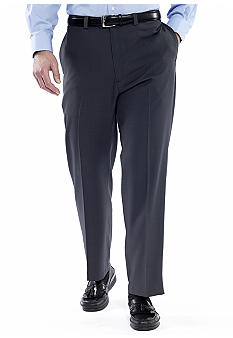 Haggar Big & Tall Smart Fiber Repreve Flat Front Dress Pants