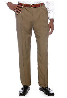 Haggar Big & Tall Smart Fiber Repreve Pleated Dress Pants